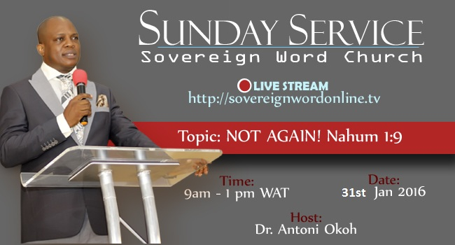Sunday Service 31st January, 2016 – Not Again!!!
